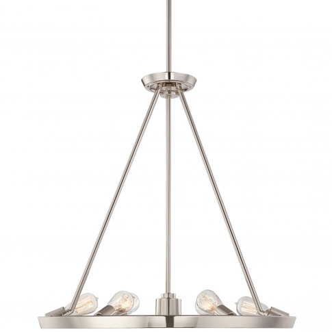 Silver Theater Chandelier