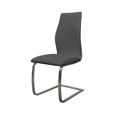 Goldman Grey Faux Leather Dining Chairs Faux Leather...