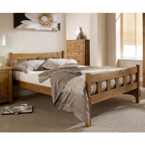 Constantine Pine Bed Frame Single Size - 3ft