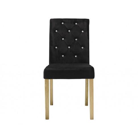 Misha Black Crushed Velvet Dining Chair Black Crushe...
