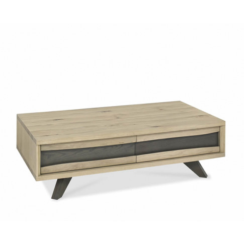 Cadell Aged & Weathered Oak Coffee Table With Drawer