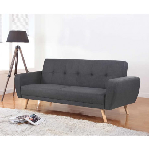 Beckman 115cm Grey Fabric Sofa Bed