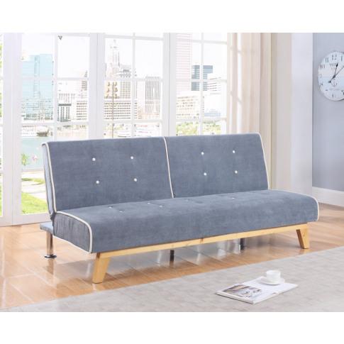 Smith 107cm Grey Fabric Sofa Bed