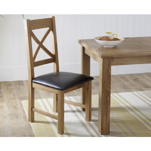 Priory Oak X-Back Dining Chair