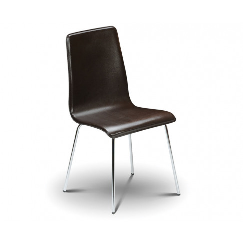 Mandy Brown Faux Leather Budget Dining Chair Brown F...