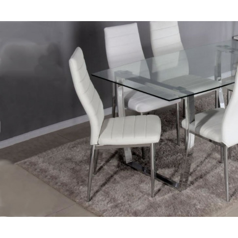 Dukas White Faux Leather Dining Chair