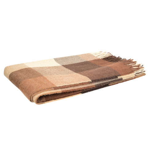 Magee 1866 Brown, Oat & Camel Patchwork Throw