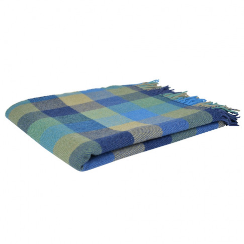 Magee 1866 Blue, Green & Yellow Lambswool Patchworks...