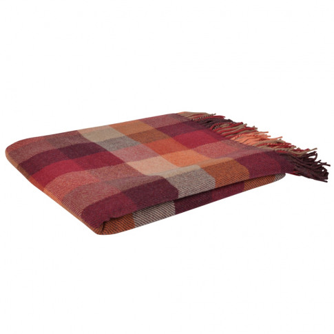 Magee 1866 Autumnal Lambswool Patchworks Throw