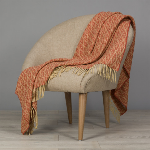 Magee 1866 Yellow & Orange Wigwam Throw