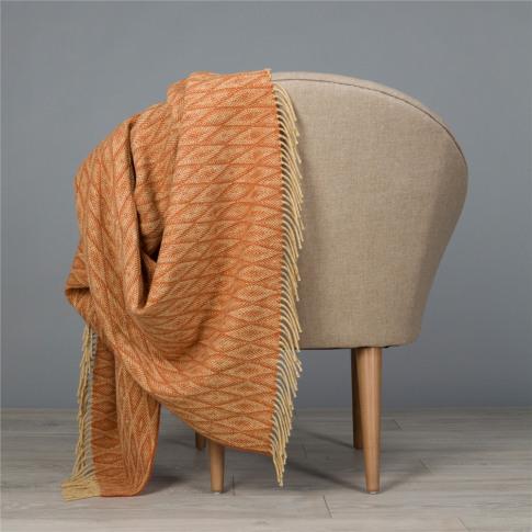 Magee 1866 Camel & Orange Wigwam Throw