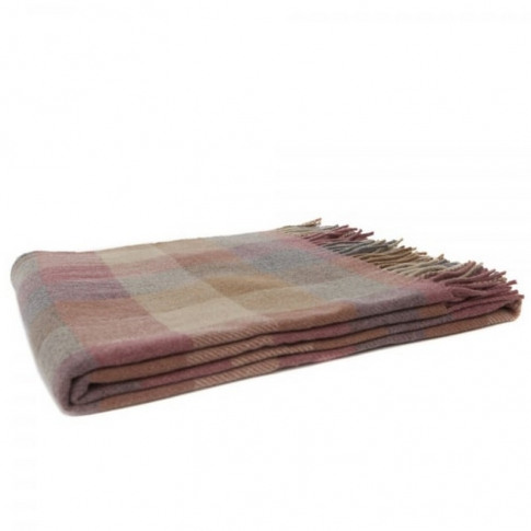 Magee 1866 Moss - Small Pink, Grey & Camel Patchwork...