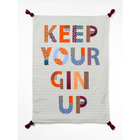 White Stuff Keep Your Gin Up Tea Towel