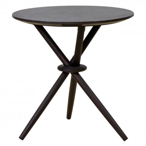 Stix Side Table Graphite & Black