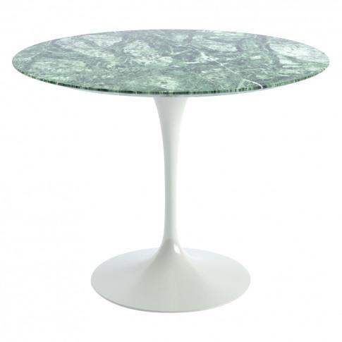 Tulip Dining Table Verdi Alpi Satin Finish Marble & ...