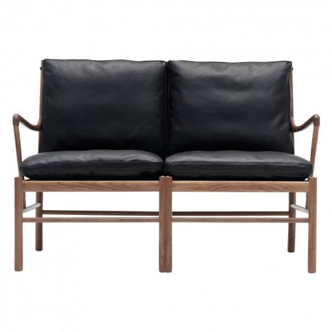 Ow149-2 Colonial Sofa Walnut & Leather