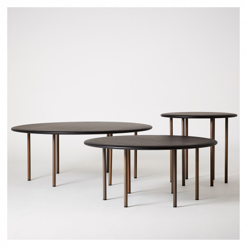 Six Leg Coffee Table Dark Oak 90cm