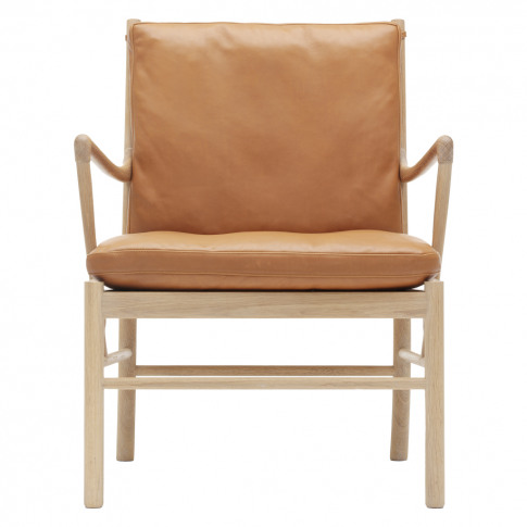Ow149 Colonial Armchair Oak & Leather