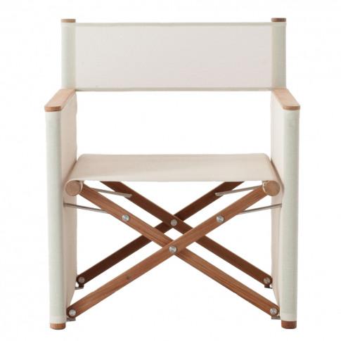 Orson 002 Director Lounge Chair Teak & Sand