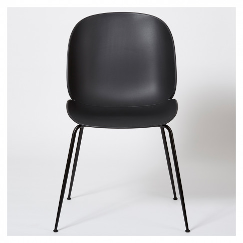 Beetle Dining Chair Un-Upholstered Black