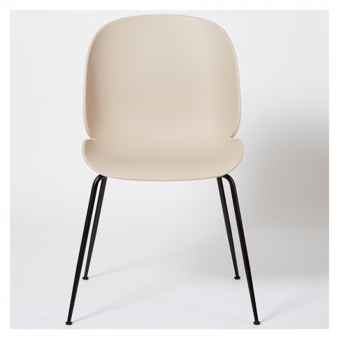 Beetle Dining Chair Un-Upholstered New Beige With Bl...