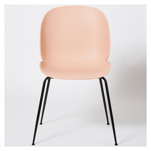 Beetle Dining Chair Un-Upholstered Sweet Pink With B...