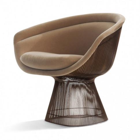 Platner Lounge Chair Metallic Bronze & Alpaca Fabric