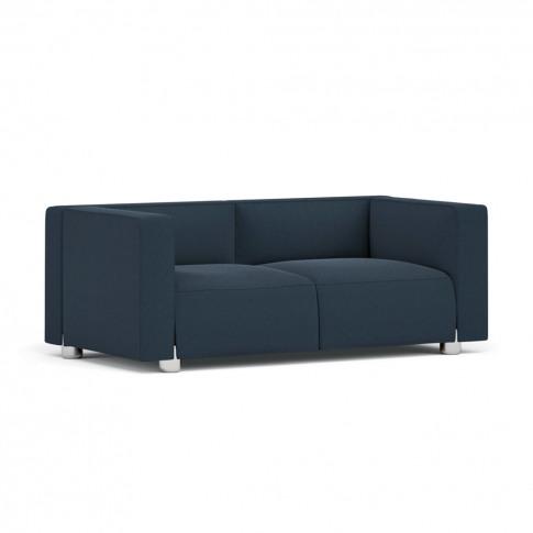 Barber & Osgerby Sofa Chrome & Fiord Or Divina Fabric 2-Seat