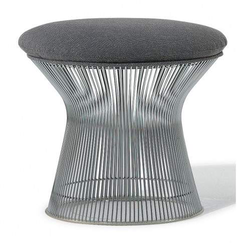 Platner Stool Polished Nickel & Hallingdal Fabric