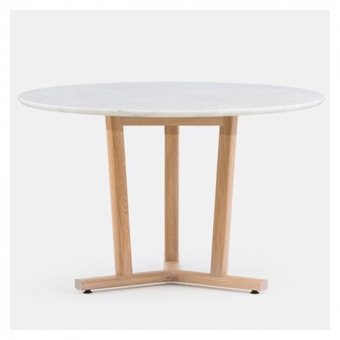 Shaker Dining Table Round White Oak