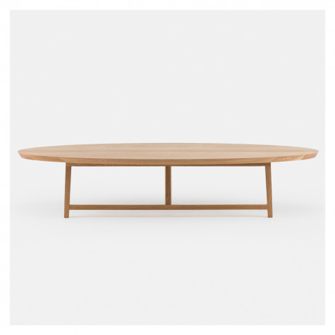 Trio Coffee Table Oval White Oak