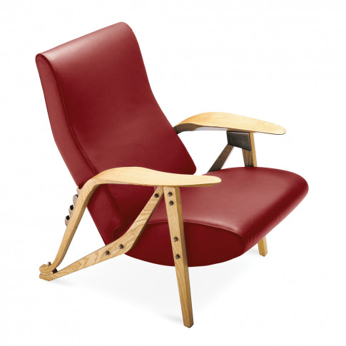 Gilda Armchair Oak Dyed Ash & Leather