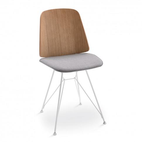 June 2056 Dining Chair Oak & Fabric Seat