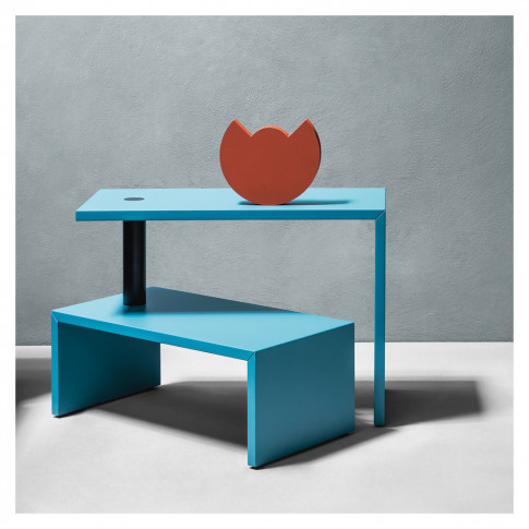 Basello Side Table Dark Blue-Green