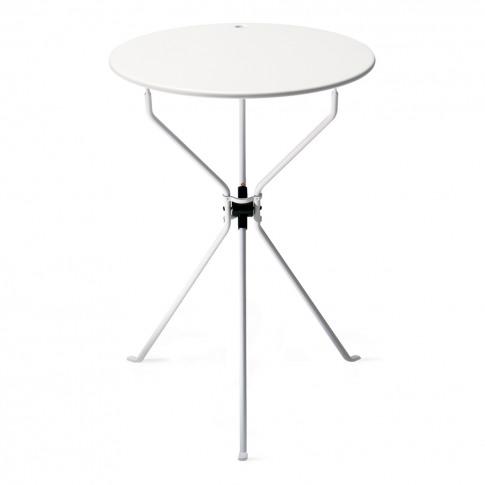 Cumano Folding Side Table White