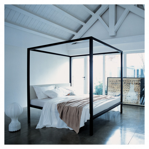 Milleunanotte Four-Poster Bed Wenge-Stained Oak & Pe...