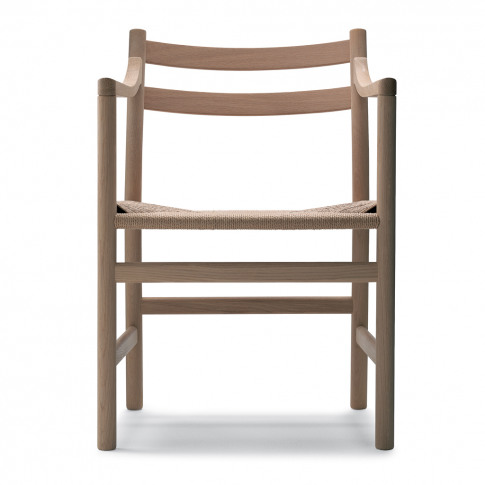 Ch46 Armchair Soaped Oak & Natural Papercord Seat