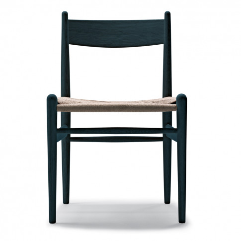 Ch36 Dining Chair Black Oak & Natural Paper Cord