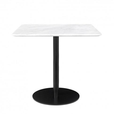 Gubi 1.0 Dining Table Black & Marble Square