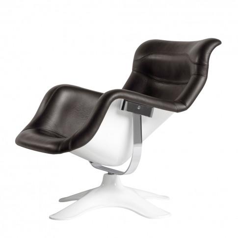 Karuselli Lounge Chair Brown Prestige Leather