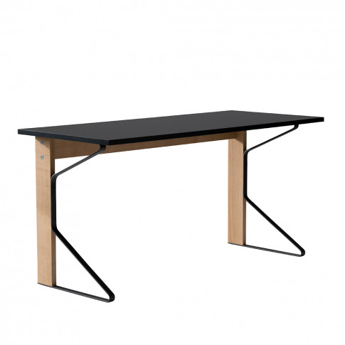 Reb 005 Kaari Desk 150 X 65cm Natural Oak Black Hpl Top