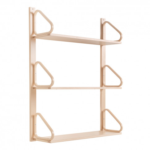 112b Wall Shelving Natural Lacquered Birch