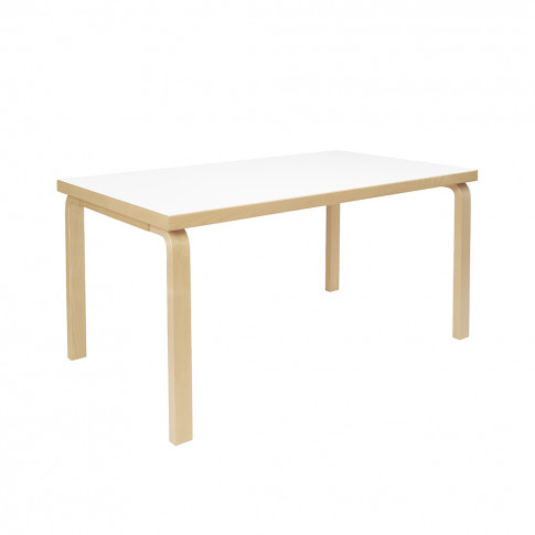 82a Aalto Dining Table 150cm Birch & White