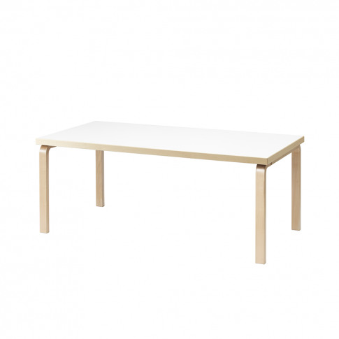 83 Aalto Dining Table 182cm Birch & White