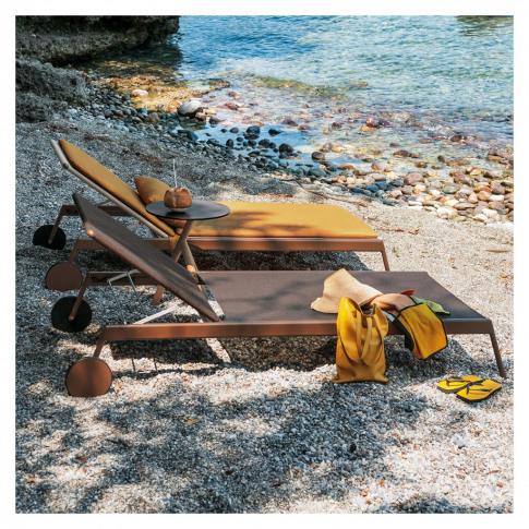 Piper 007 Sun Lounger Rust & Blue