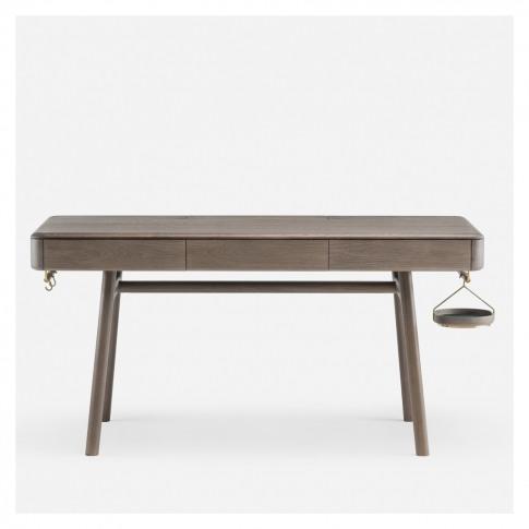 784 Solo Desk Brass & Oxidised Oak