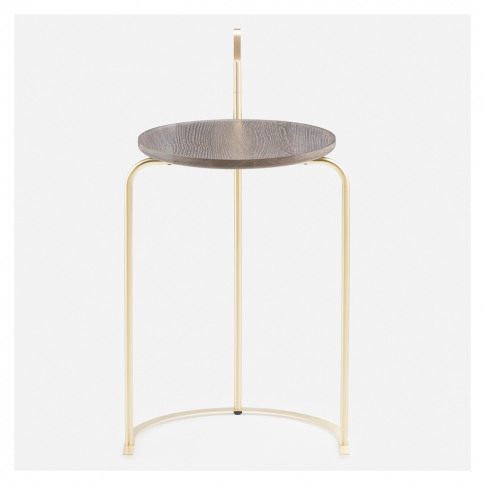 790 Handle Side Table Brass & Oxidised Oak