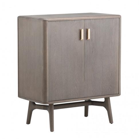 785 Solo Cabinet Brass & Oxidised Oak