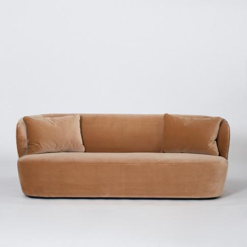 Stay Sofa In Fawn Velvet