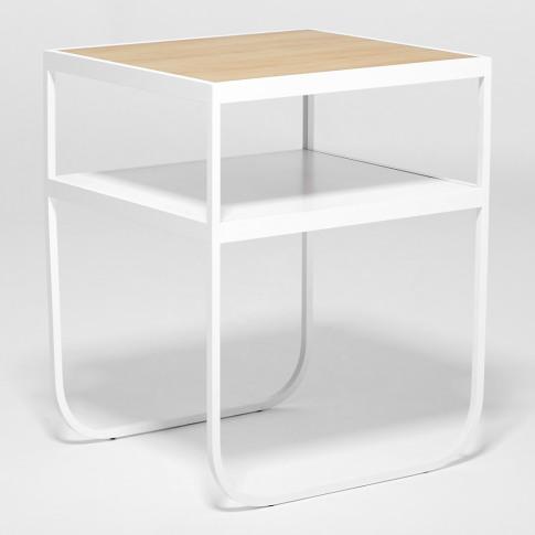 Nati Tati Bedside Table White & Oak